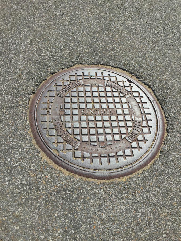 Sewer, waterworks & drainage manhole cover